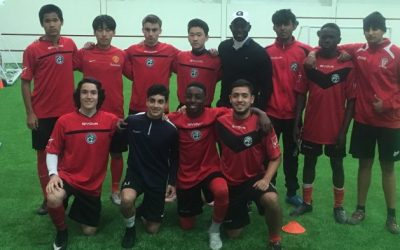 Ex Manchester United super star Dwight Yorke with IH Manchester football academy players!