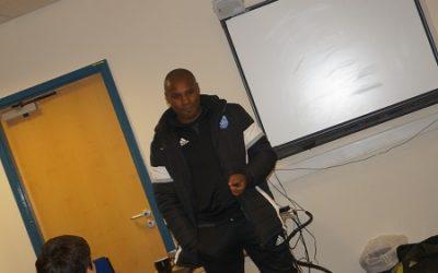 Premier League Ace Frank Sinclair Visits Academy