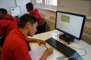 IH Manchester Football student in class