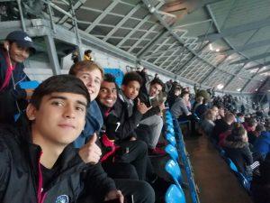 IHM Academy players at the Etihad Stadium